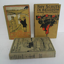 Lot of 3 Vintage Boys' Series Books with Military Themes