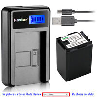 Kastar Battery LCD Charger for Canon BP-827 & Canon VIXIA HF S30, VIXIA HF S100