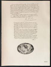 1926 - Lithographie citation de Merlin, Rume (Guerre 14 18)
