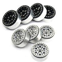 4Pcs 1.9'' Alum Alloy Beadlock Wheel Rims for 1/10 RC SCX10 RC4WD D90 TRX4 Car