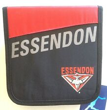 AFL CD / DVD WALLET WITH ZIP HOLDER ESSENDON BOMBERS CARRY CASE CAR HOME GIFT
