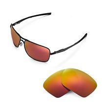 New Walleva Polarized Fire Red Replacement Lenses For Oakley Plaintiff Squared