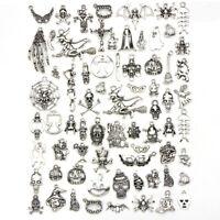 70Pcs/Set Tibetan Silver Halloween Mixed Charms Pendant Jewelry DIY Craft Mak SE