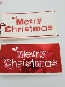 """christmas gift tags pack of 10 by artwrap """"merry christmas""""  [t-14] new"""
