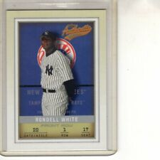 2002 FLEER AUTHENTIX FRONT ROW RONDELL WHITE 079/150 YANKEES