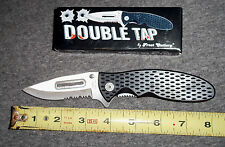 "Frost knife Double Tap 4.5"" closed linerlock,matte Stainless Steel blade NIB"