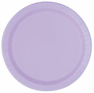 Lavender 22cm Paper Party Dinner Plates Celebration BBQ Wedding 1-96pk