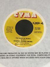 "Stunning NM Sandra Jeanne Brown ""The Seed Of Music"" 45 Cyma Modern No Soul Funk"