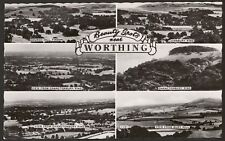 West Sussex - Worthing, Beauty Spots near Worthing - Multiview Photo Postcard
