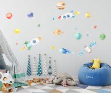 Planet Star Rocket Satellite Wall Sticker Nursery Decor Kid Decal Art Mural Gift