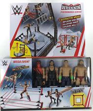 Mattel WWE Mega Event Jumbo Ring With 12 Inch Figures Kane Undertaker Cena Bryan