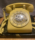 VINTAGE BELL SYSTEM GOLD / YELLOW ROTARY MODULAR DESK PHONE