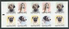 Sweden 2008 Four Different Dog Breeds in Complete Booklet of Ten Stamps MNH