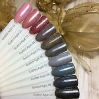 GRATTOL Agate Collection LS Gel Nail Polish Glitter Color Coat 9ml LED/UV