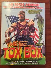 New Sealed The tox Box Toxic Avenger 4 dvd case with rare 3d box collectable