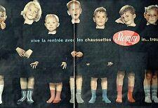 Publicité Advertising 067  1957  chaussettes enfants ( 2pages) Stemm Prouvost