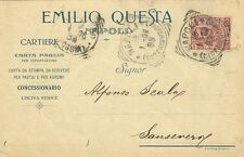 Z13103-NAPOLI, EMILIO QUESTA, CARTIERE, CARTA PAGLIA PER ESPORTAZIONE,1906