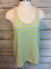 Lush Tank Top Neon Stripe Size S Studded Spike Detail Nordstrom