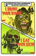 Combo I Drink Your Blood Poster 01 Metal Sign A4 12x8 Aluminium