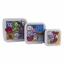 More details for bt21 set of 3 snack boxes food storage box bt21 characters bts