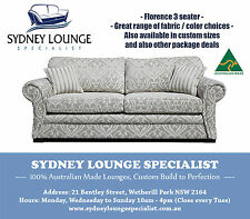 AUSTRALIAN MADE  Florence (Warwick Fabric) 3 seater Sofa Lounge Couch