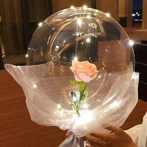 "10x 10"" PVC Clear 3D Bobo Bubble Balloon Transparent Baby Birthday Wedding Party"