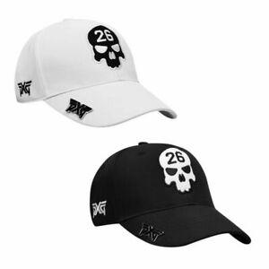 PXG Skull Hat Adjustable Golf Baseball Cap Black White