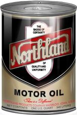 Northland Motor Oil Can Reproduction Gas Station Metal Sign - 12 x 18 In RVG249