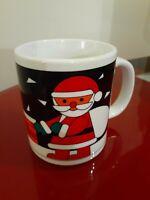 Christmas season Santa's Printed Coffee mug Pre Owned Great condition