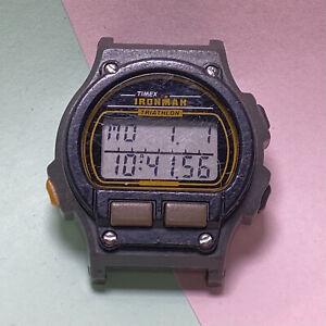 Retro 1990s TIMEX IRONMAN TRIATHLON 755 DIGITAL WATCH Body, New Battery, Working