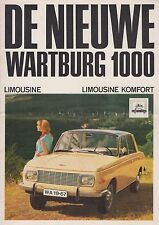 WARTBURG 1000 1966 FIRST 353 BROCHURE PROSPEKT FOLDER