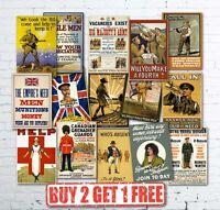 Extra Large A1 Vintage High Quality British WW1 World War I Propaganda Posters