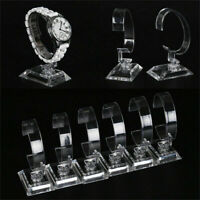 Display Good Rack Clear Holder Stand Plastic Fashion Show Case For Wrist Watch
