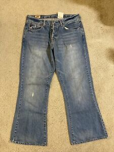 """Vintage A&F abercrombie and fitch """"Barstar Flare"""" Denim Men's Size 32 x 30"""