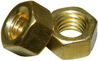 Solid Brass Machine Screw hex nuts 1/4-20 Qty 100