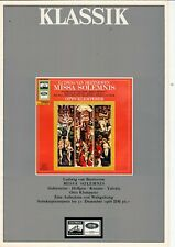 KLASSIK - Broschüre Katalog Prospekt Neuheiten 1966 Electrola LP - B22118