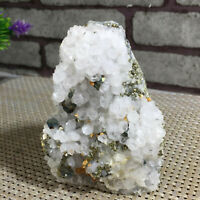 NATURAL Calcite Grow with chalcopyrite Crystal Cluster Specimen 515g