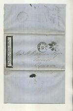 1867 NEW YORK TO SAMUEL MILLER TORONTO CANADA FANCY CANCEL STMPLS LTTR CVR