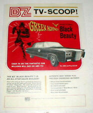 "1960 BZ Green Hornet Black Beauty Slot Car Color Ad repo 8 1/2"" X 11"""