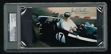 Jack Brabham signed autograph auto 4x7 Photo Formula One Champion PSA Slabbed