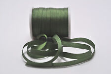 7mm  100%  Silk  Ribbon,  Forest  Green