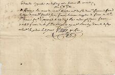 PAPIER ANCIEN PARCHEMIN ECRIT A LA MAIN AVIS DE PAIEMENT MONTAUBAN 1781