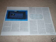 Nakamichi 1000 ZXL Review, 2 pgs,1981,Full Test, Rare!