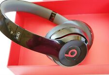 Genuine Beats By Dre Solo2 HD On-Ear Headphones Gloss Black Wired Used