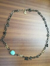 Cecile Jeanne branded handmade bee necklace in jade and gold-plated metal