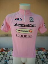 MAGLIA ROSA CICLISMO 1999 PANTANI FILA 3 VINTAGE CYCLING SHIRT JERSEY MAILLOT
