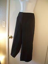 Women's capri pants Black Khaki Material Cropped Capri Pants Spring Size 20W