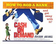CASH ON DEMAND Movie POSTER 27x40 B Peter Cushing Andr  Morell Richard Vernon