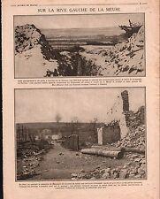 WWI La Meuse Cote 304 Bataille de Verdun mamelons d'Haucourt 1916 ILLUSTRATION