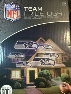 NEW NFL TEAM PRIDE SEATTLE SEAHAWKS LOGO INDOOR OUTDOOR PROJECTION LIGHT Neon